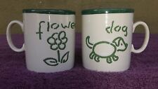 Made in England Just Mugs 8oz Mug Cup with Dog and Flower