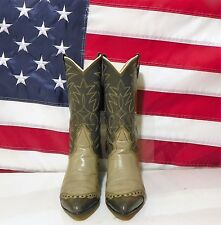 WOMENS NOCONA GRAY LEATHER WITH LIZARD TOE WESTERN COWBOY BOOTS SIZE 6 C