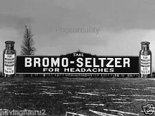 1920s Bromo Seltzer road side billboard sign  8 x 10 Photograph