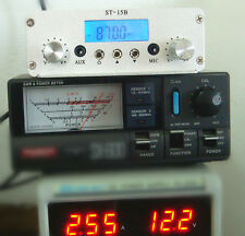 FM RF 15w stereo transmitter  1.5w/15w RCA interface 87-108MHZ only host