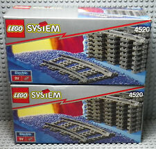 LEGO System Train - 2 boites du set 4520 Curved Rails for 9v Trains - 1991
