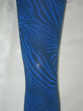 Opaque Royal Blue & Black Zebra Stripe Tights. 10-16 New tiger goth punk 80s