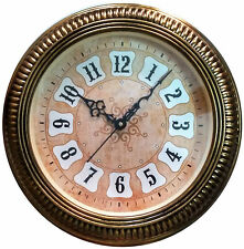 Decorative Antique Round Classy Wall Clock Golden Finish Big Digits Big Size ��⏳