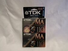 2 Pack TDK MA 110 Type IV Metal Position Audio Cassette Tapes - NEW SEALED (2E2)