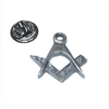 Freemason Masonic Square & Compasses LAPEL PIN Mason Cap Badge Birthday Present