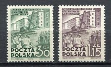 35608) POLAND 1951 MNH** Nuovi** Six years plan 2v