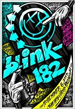 Blink 182 Hollywood CA 2013 Poster Signed & Numbered #/50 Artist Edition Rare!!