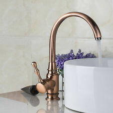 Single Handle Bathroom/Kitchen Sink Antique Copper Finish Taps Vessel Faucet 012