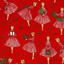 Michael Miller Retro Christmas Fabric HOLIDAY HOSTESS- yards