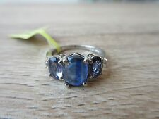 Himalayan Kyanite Lolite White Topaz Ring Platinum Over Sterling Sz 5,7,8 Option
