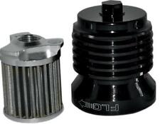 PC Racing - PCS4B - FLO Spin On Stainless Steel Oil Filter, Black`