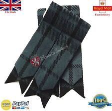 Men's Kilt Hose Sock Flashes Grey Watch Tartan/Scottish Kilt Hose Socks Flashes