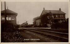 Earby near Colne. Earby Railway Crossing & Train.