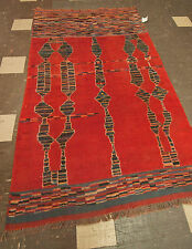50yo (1960's) Moroccan Berber Tribal Rug - Hand Knotted Taznaght -4.5' x 7.5'