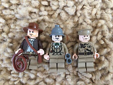 3 Lego Indiana Jones Minfigures Colonel Dovenchencho Henry Lot 8 7628 7626 7198