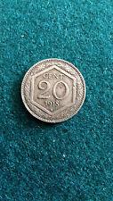 Moneta 20 centesimi esagono 1918 contorno rigato, ribattuto di vecchio conio.