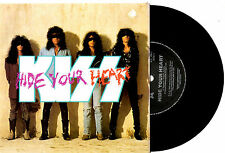 "KISS - HIDE YOUR HEART / BETRAYED - RARE OZ AUSSIE 7""45 VINYL RECORD PICSLV 1989"