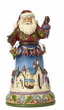 Jim Shore Heartwood Creek Santa w Rotating Reindeer Scene Joy All Around 4056590