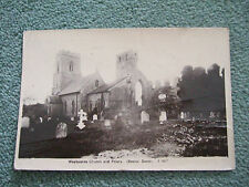 Postcard. Weybourne Church and Priory (Beales) Posted to Wandsworth Common 1917.
