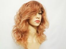 Human Hair Natural Wavy Wig Strawberry/Light Blonde 14""