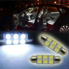 High Quality 2pc White 41mm 6-SMD Festoon LED Bulbs Car LED Map Room Bulbs G-Fd
