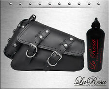 2004-2017 La Rosa Black Leather Harley Sportster Right Saddle Bag + Fuel Bottle