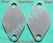 EGR blanking plate's 3mm Volkwagon Seat Skoda Audi TDi 2off T4 T5 T25 Stainless