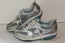 Skechers Shape Ups Toning Shoes,#12320, Slvr/Blue/Wht,  Womens US 8.5