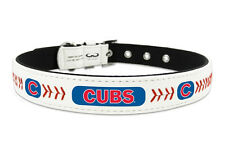 Chicago Cubs Large Leather Lace Dog Collar [NEW] MLB Pet Cat Lead CDG