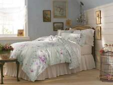 Simply Shabby Chic Green Bramble Rose Twin Duvet & Sham 2pc Set NEW Pink Purple