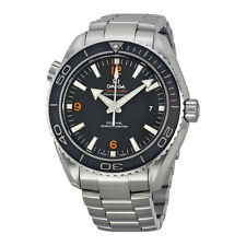 Omega Plant Ocean Big Size Black Dial Automatic Stainless Steel Mens Watch