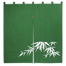 "Japanese Noren 35""L  Bamboo Green  2-Panel Curtain Doorway Tapestry/Made Japan"