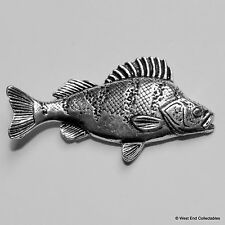 Perch Fish Pewter Pin Brooch -British Handcrafted- Coarse Fishing Angling