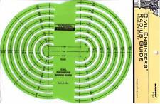 Berol Rapidesign Template - Civil Engineers Radius Guide - R-127