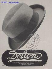 PUBLICITE 1941 CHAPEAU DELION CHAPELIER FRENCH ORIGINAL AD