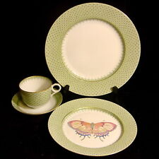 "Mottahedeh China ""Apple Lace"" - 4 pc -Dinner Plate, Butterfly Salad Plate, Cup,S"