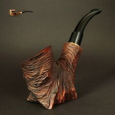 "HAND CARVED WOODEN TOBACCO SMOKING PIPE  "" Stump II ""     Pear Tree   by Artisan"