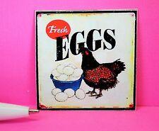 """Miniature """" Fresh Eggs"""" Sign : Dollhouse      P1252"""