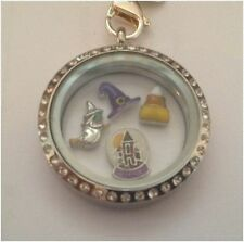 Halloween Witch Hat Globe Candy Corn Floating Charms For Origami Memory Locket
