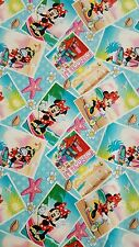 """New 43"""" 100% COTTON Minnie Summer Snapshots, Disney Springs Creative Products"""