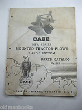 CASE MTA MOUNTED TRACTOR PLOWS 2 & 3 BOTTOM PARTS CATALOG 822 LIST BOOK 1962