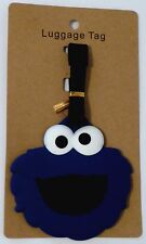 """3.5X3.5"""" COOKIE MONSTER blue Sesame Street suitcase Travel Baggage LUGGAGE TAG"""