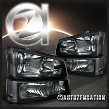 03-06 Silverado/ Avalanche Black Headlights & Bumper Signal Lights