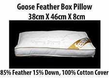 Luxury Goose Feather BOX Pillow 85% Feather 15% Down With 100% Cotton Cover