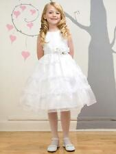 Girls Holy Communion/ Flowergirl Dress, White size 6, 8 & 10