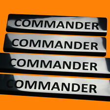 411606 BRILLANT 4 LES SEUILS DE PORTE JEEP COMMANDER LETTRAGE NOIR COMMANDER