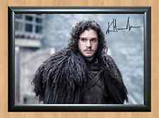 Kit Harington Game of Thrones Jon Snow Signed Autographed A4 Print Poster Photo