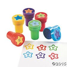 6 Stars Smile Face Self Ink Stampers Kids Crafts Birthday Party Favors Gifts