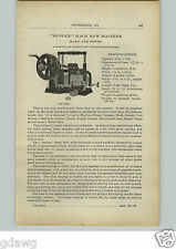 1910 PAPER AD Duplex Power Hack Saw Machine Star Brand