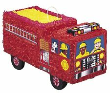Fire Truck Engine Pinata Party firefighter Kids Birthday Pinyata Game Boys Toy